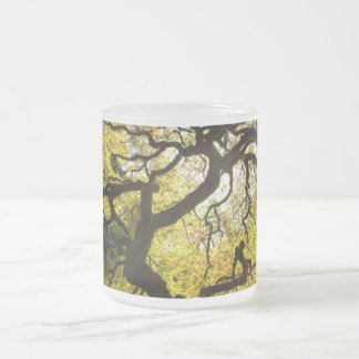 Tree of Life Frosted Glass Mug
