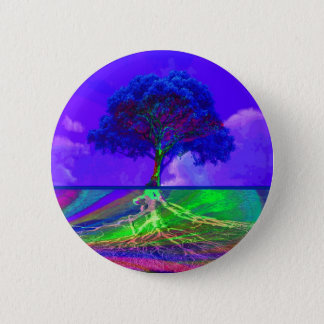 Tree of Life Fulfilment 6 Cm Round Badge