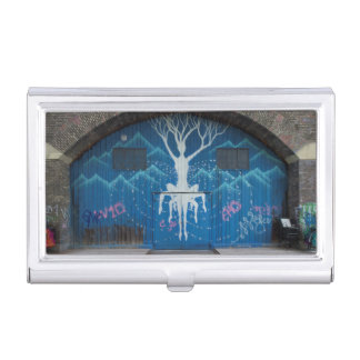 Tree Of Life Graffiti Business Card Holder