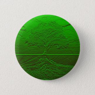 Tree of Life Green Energy 6 Cm Round Badge