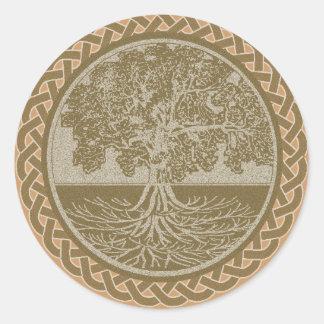 Tree of Life Grounding Classic Round Sticker
