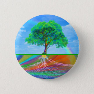 Tree of Life Happiness 6 Cm Round Badge