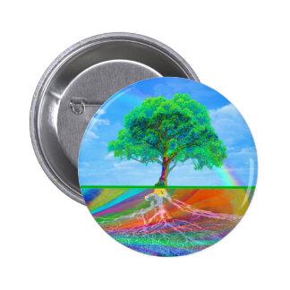 Tree of Life Happiness 6 Cm Round Badge