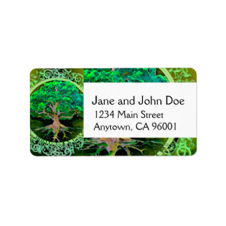 Tree of Life Health and Prosperity Address Label