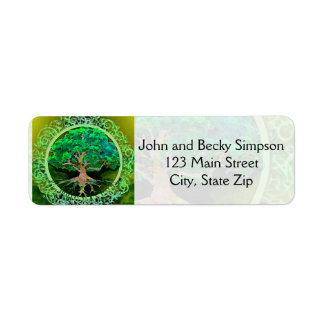 Tree of Life Health and Prosperity Return Address Label