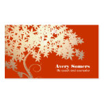 Tree of Life Health and Wellness Orange Nature Pack Of Standard Business Cards