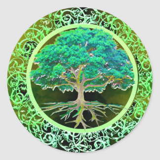 Tree of Life Health Classic Round Sticker