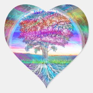 Tree of Life Heart Sticker
