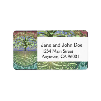 Tree of Life Hearts and Love Address Label