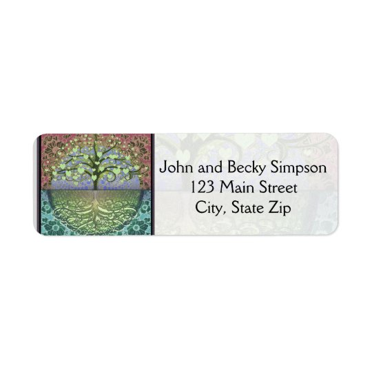 Tree of Life Hearts and Love Return Address Label