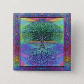 Tree of Life Hope and Peace 15 Cm Square Badge