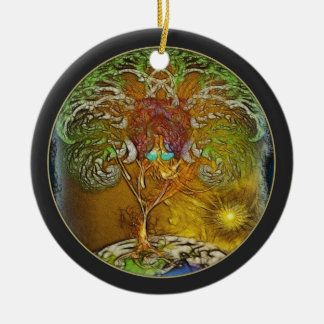 Tree Of Life Illustration Ceramic Ornament