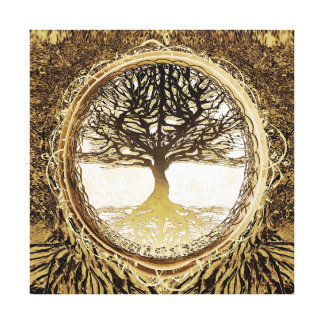 Tree of Life in Brown Canvas Print