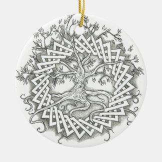 Tree of Life in Celtic Design Ceramic Ornament