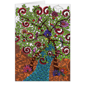 Tree of Life in color Card