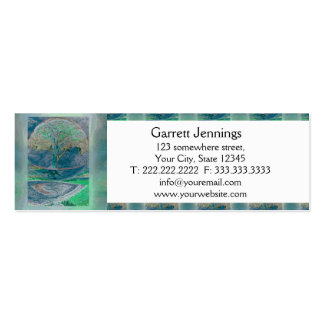 Tree of Life in Pale Green Colors Pack Of Skinny Business Cards