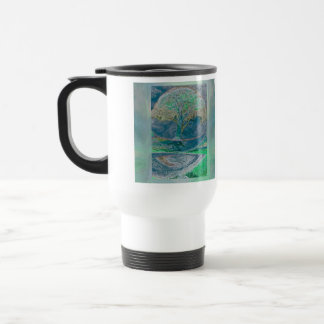 Tree of Life in Pale Green Colors Travel Mug