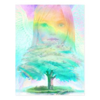 Tree of Life Light Angel Postcard