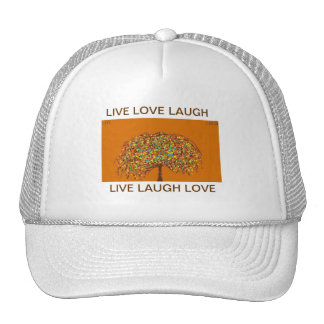 Tree Of Life LIVE LAUGH LOVE Trucker Hat