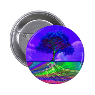 Tree of Life Live Your Dream 6 Cm Round Badge
