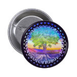Tree of Life Love, Peace, Balance Pinback Buttons
