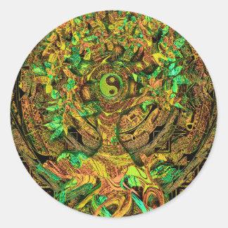 Tree of Life Mandala Dance Round Sticker