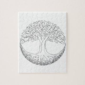 Tree of Life Mandala Jigsaw Puzzle