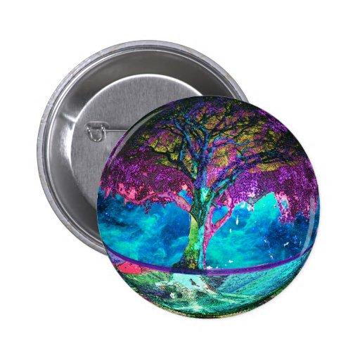 Tree of Life Meditation Pinback Buttons