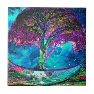 Tree of Life Meditation Ceramic Tile