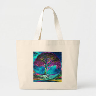 Tree of Life Meditation Large Tote Bag