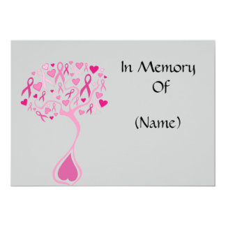 Tree of Life Memorial Announcement Cards