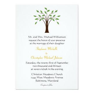 Tree of Life Modern Symbolic on White #2 Wedding Card