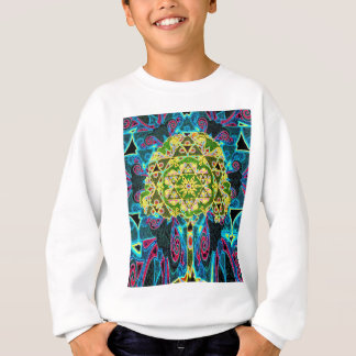 Tree of Life Mosaic Pattern Sweatshirt
