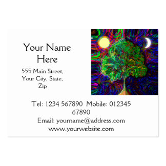 Tree of Life Night and Day Business Cards