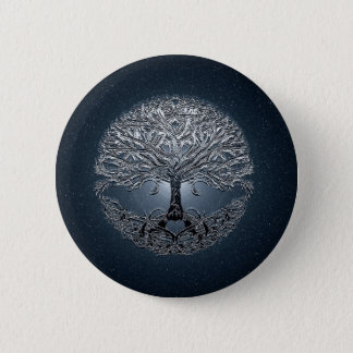 Tree of Life Nova Blue 6 Cm Round Badge