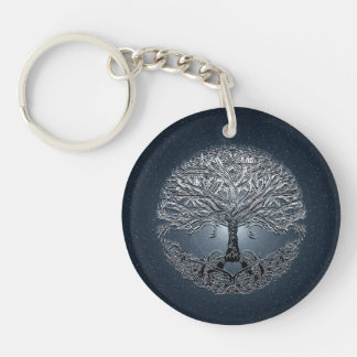 Tree of Life Nova Blue Key Ring