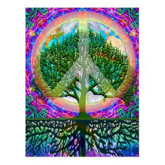 Tree of Life Peace Postcard
