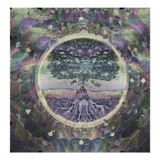 Tree of Life Peaceful Faith Poster