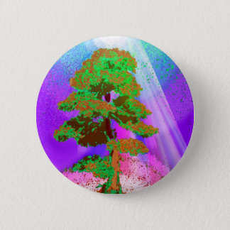 Tree of Life Radiance 6 Cm Round Badge