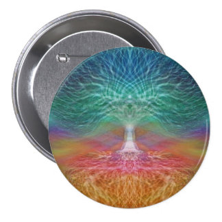 Tree of Life Rainbow Hearts 7.5 Cm Round Badge