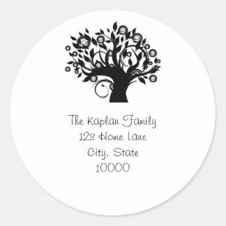 Tree of Life Return Address Envelope Seal Round Sticker