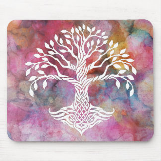 Tree of Life Sacred Geometry Symbol Mouse Pad