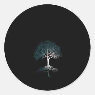 Tree of Life Silent Night Classic Round Sticker