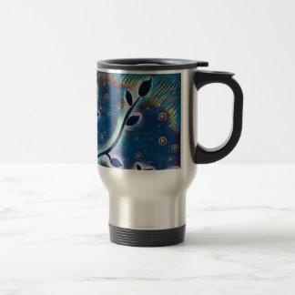 Tree of life stainless steel coffee mug