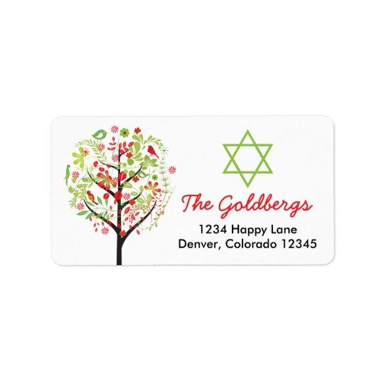 Tree of Life Star of David Return Address Label