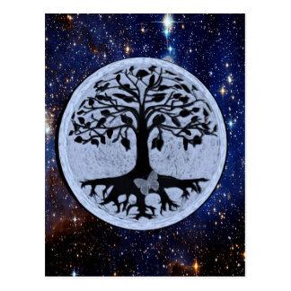 Tree of Life Starry Night Postcard