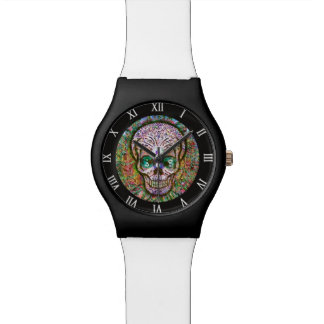 Tree of Life Sugar Skull Watch