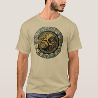 Tree of life surrounded by religious symbols T-Shirt