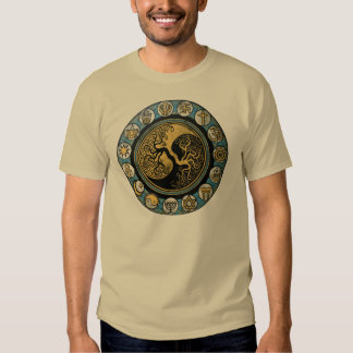 Tree of life surrounded by religious symbols tee shirts