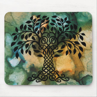 Tree of Life Symbol Abstract Background Mouse Pad